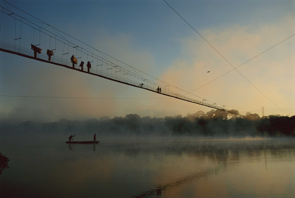 Chris Johns, Cable Bridge Over Zambezi River, 1997