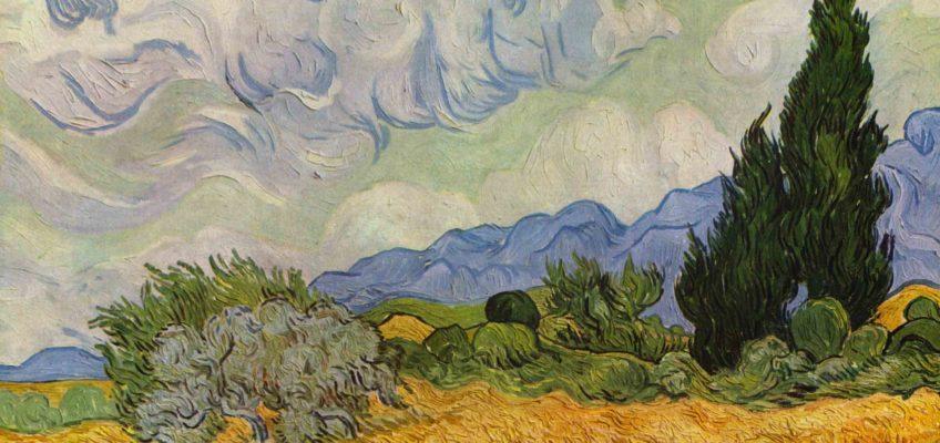 Van Gogh,, Campo di grano con cipressi