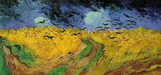Vicent van Gogh, Campo di grano con corvi, 1890