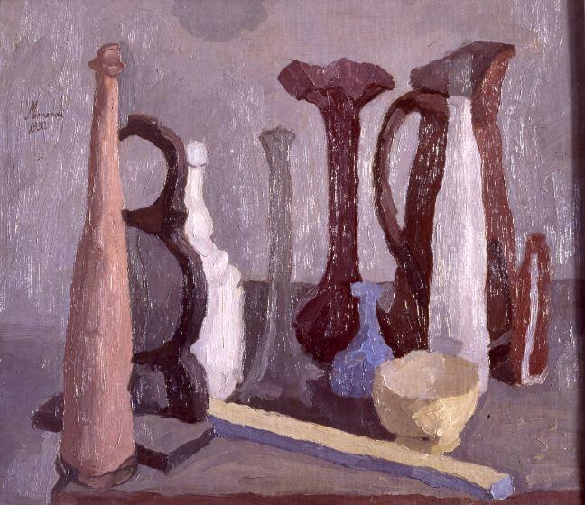 G. Morandi, Natura Moarta, 1932, olio su tela, 62,2 x 72 cm, Roma, Galleria Nazionale d'Arte Moderna.