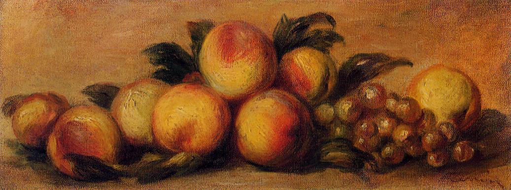 A. Renoir, Natura morta con pesche e uva
