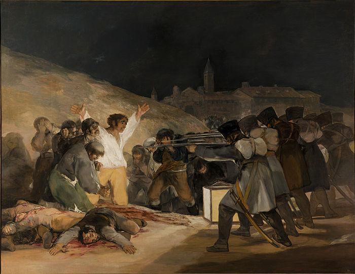 Goya, 03 maggio 1808, 1814, Museo del Prado, Madrid.