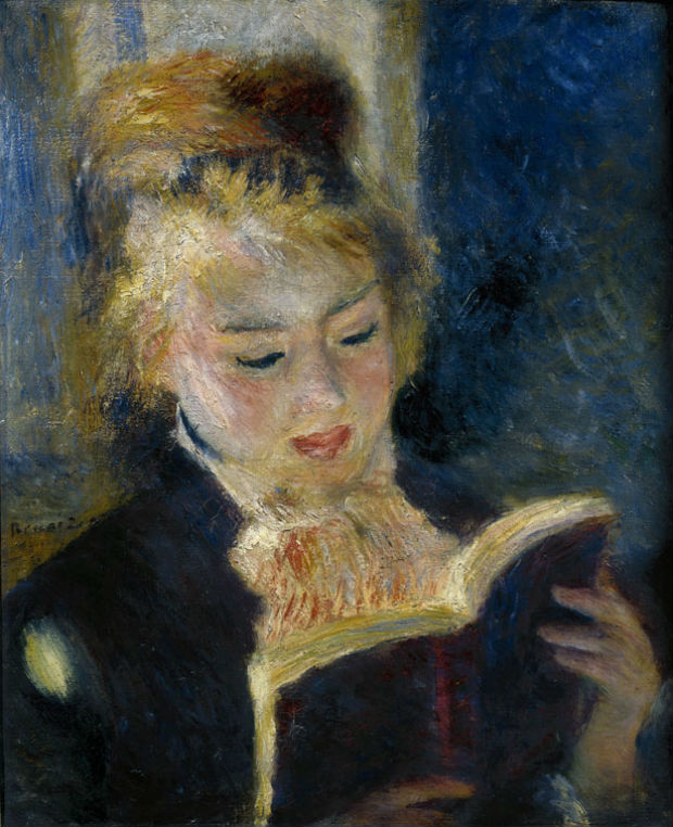 Pierre-Auguste Renoir. La lettrice, 1874-1876. Olio su tela; 46,5 x 38,5 cm. Paris, Musée d'Orsay (RF 3757) © Bridgeman/ Archivi Alinari