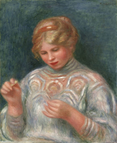 Renoir, Ragazza che fa il merletto, 1906 Philadelphia Museum of Art, Stern Collection, 1963