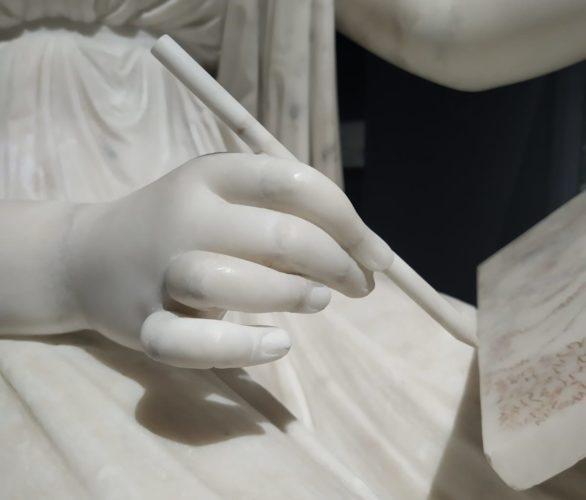 Particolare. Antonio Canova (Possagno 1757 - Venezia 1822) La principessa Leopoldina Esterházy Liechtenstein 1805-1818, marmo, 146x70x111 cm Eisenstadt, Esterházy Privatstiftung, Schloss Esterházy, Historische Sammlungen