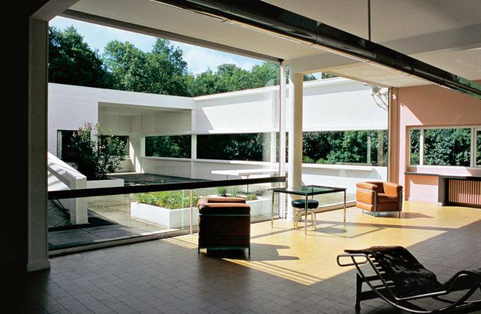 Soggiorno di Villa Savoye, Le Corbusier Fonte: artribune.com