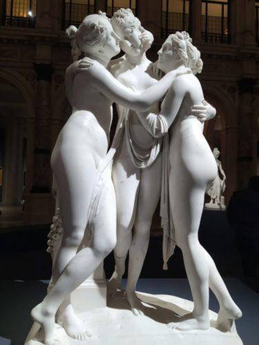Antonio Canova (Possagno 1757 - Venezia 1822) Le tre Grazie 1812-1817,marmo, 182x103x46 cm San Pietroburgo, Museo Statale Ermitage