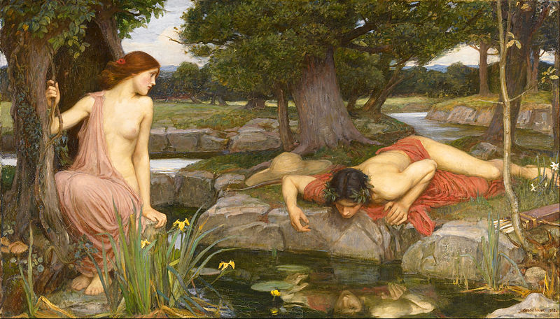 John William Waterhouse, Eco e Narciso, 1903.