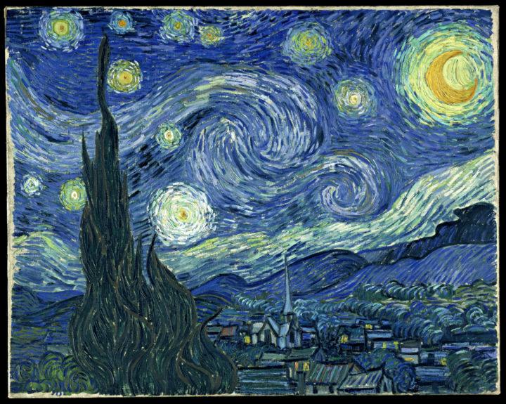 Van Gogh, Notte stellata, 1889